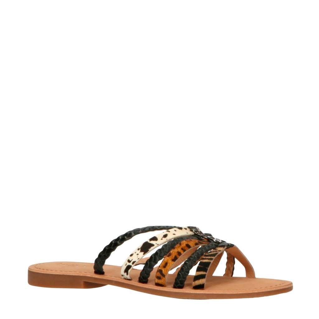 Mexx Early  slippers zwart, Zwart/beige