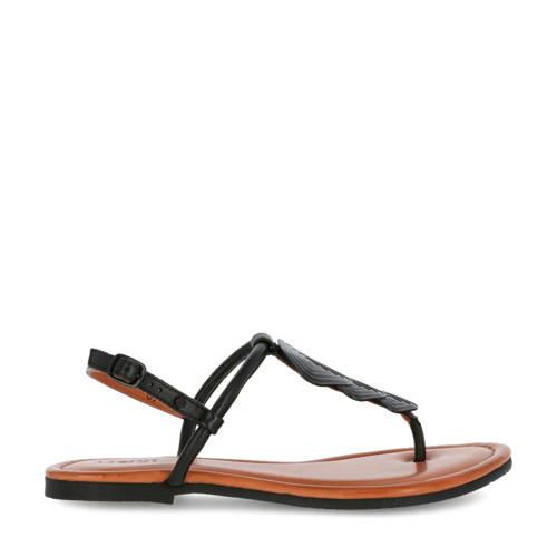 Mexx Evani leren sandalen zwart