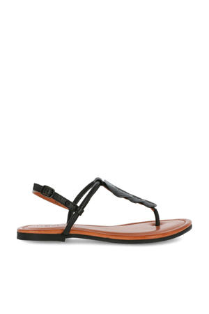 Evani  leren sandalen zwart