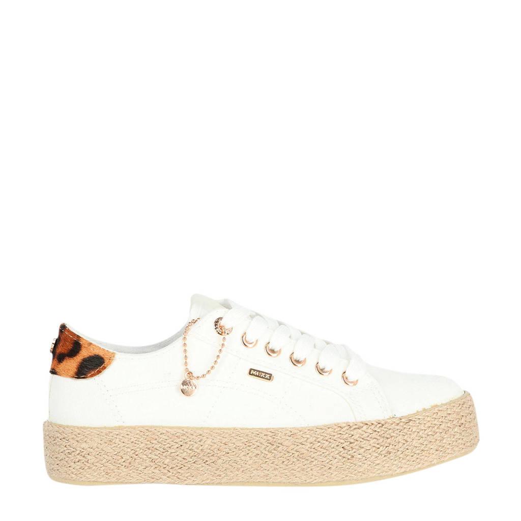 Mexx Chevelijn  sneakers wit, Wit/bruin