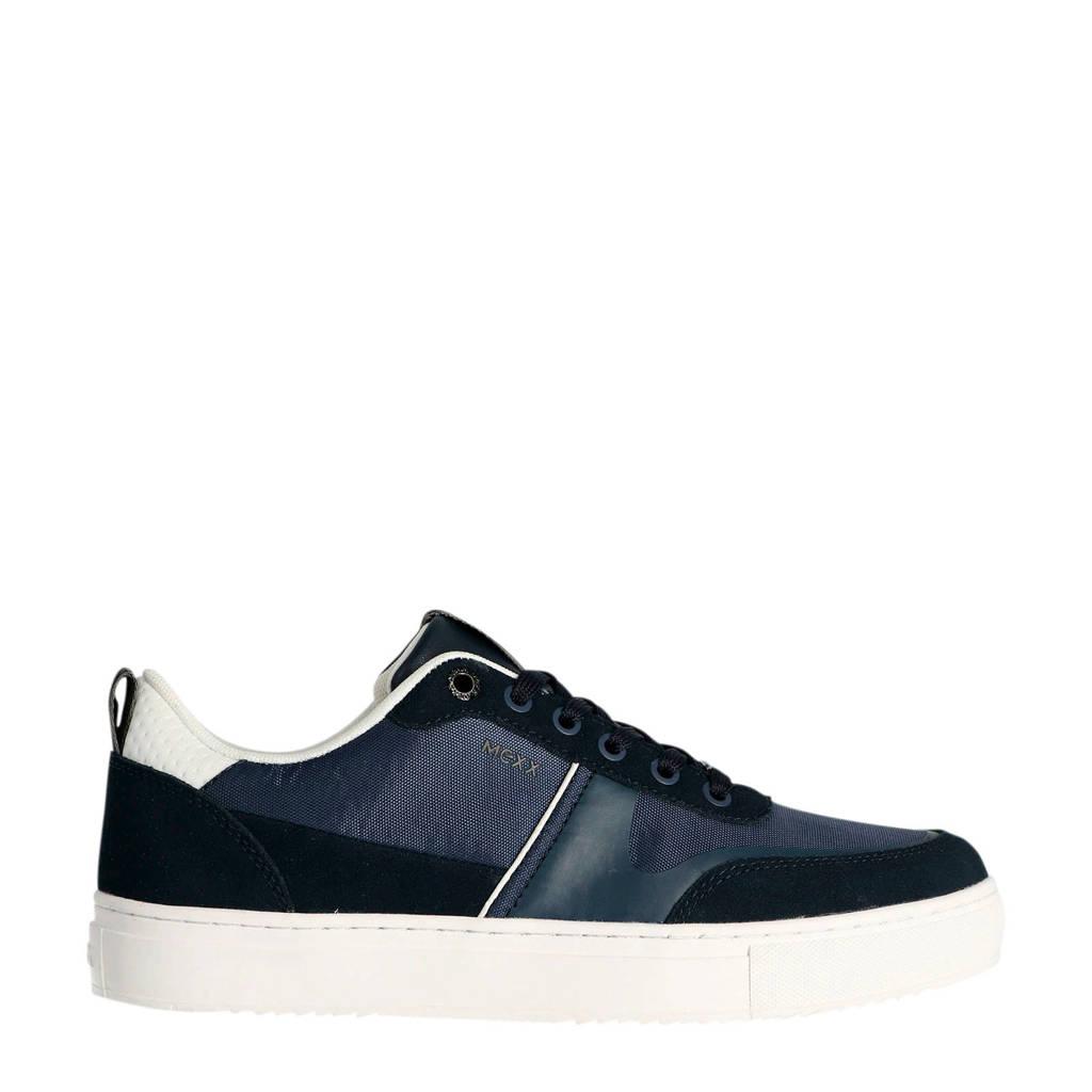 Mexx Diesel  suède sneakers blauw, Blauw/wit