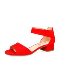 Caprice Carla  suède sandalettes rood, Rood