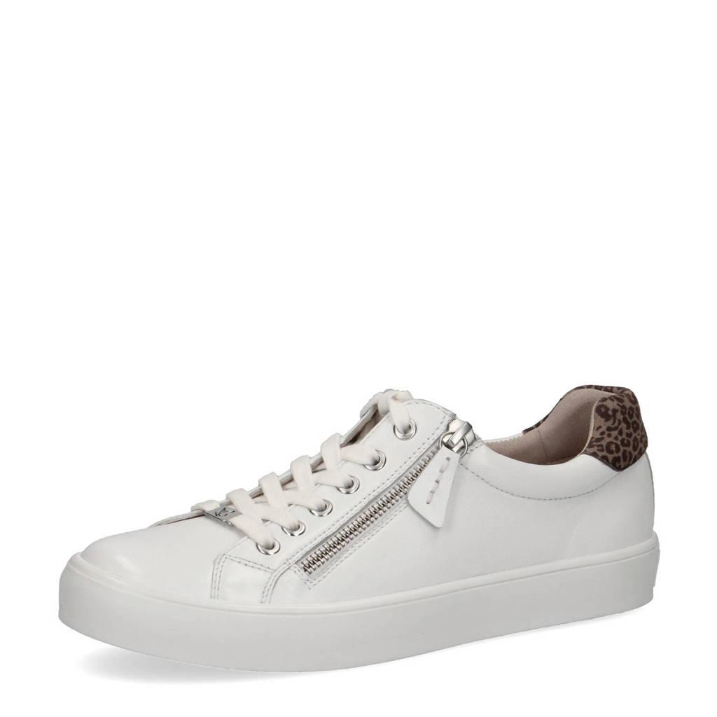 Caprice Inou  leren sneakers wit, Wit