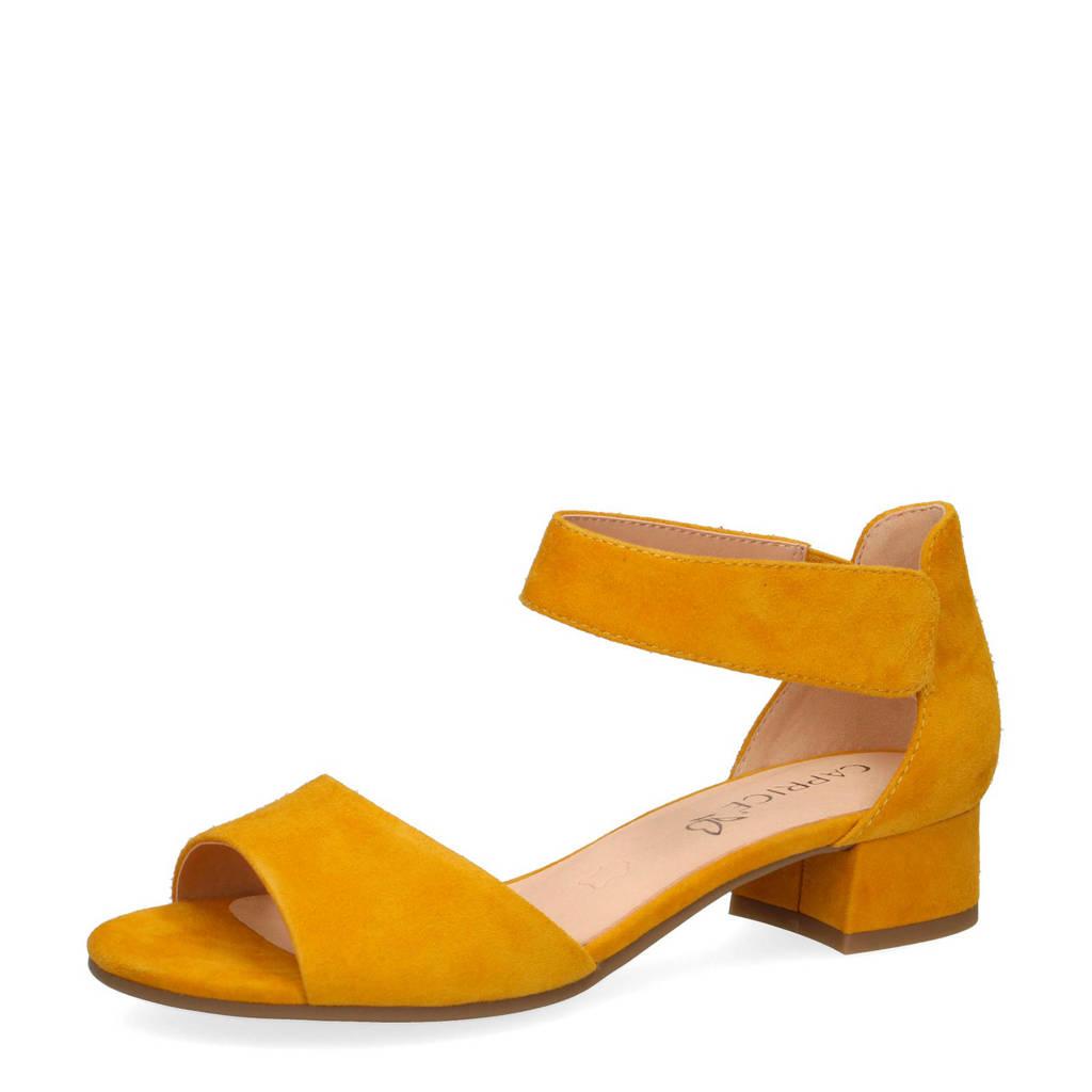 Caprice Carla  suède sandalettes geel, Geel