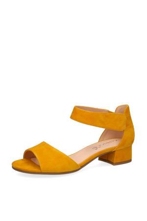 Carla  suède sandalettes geel