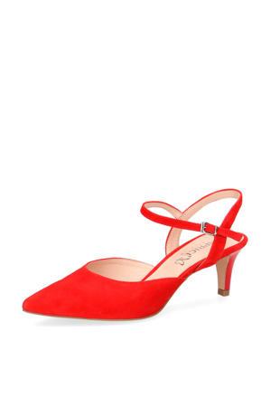 Gillian  suède pumps rood