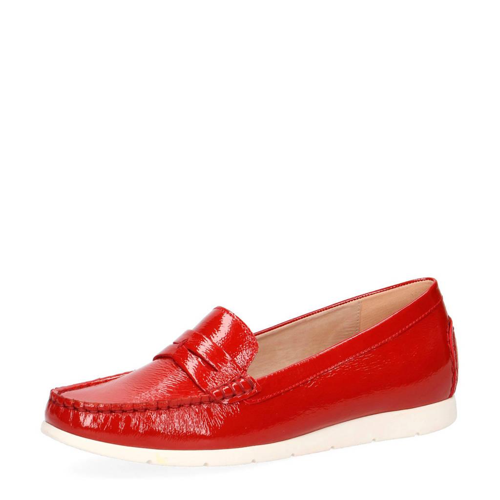 Caprice Ettiene  lakleren mocassins rood, Rood