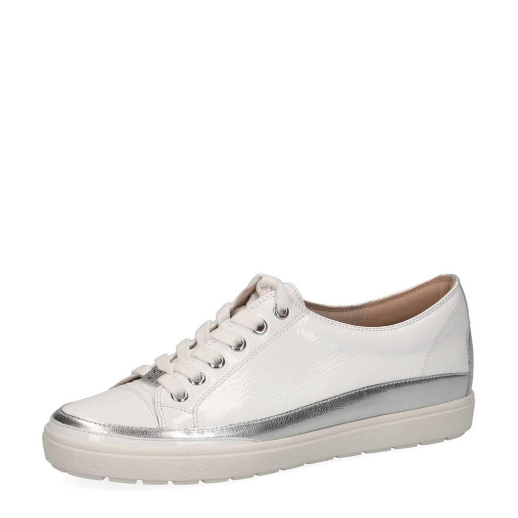 Caprice Manou  leren sneakers wit/zilver, Wit/zilver