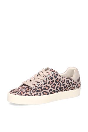 Ivy  leren sneakers roze/panterprint