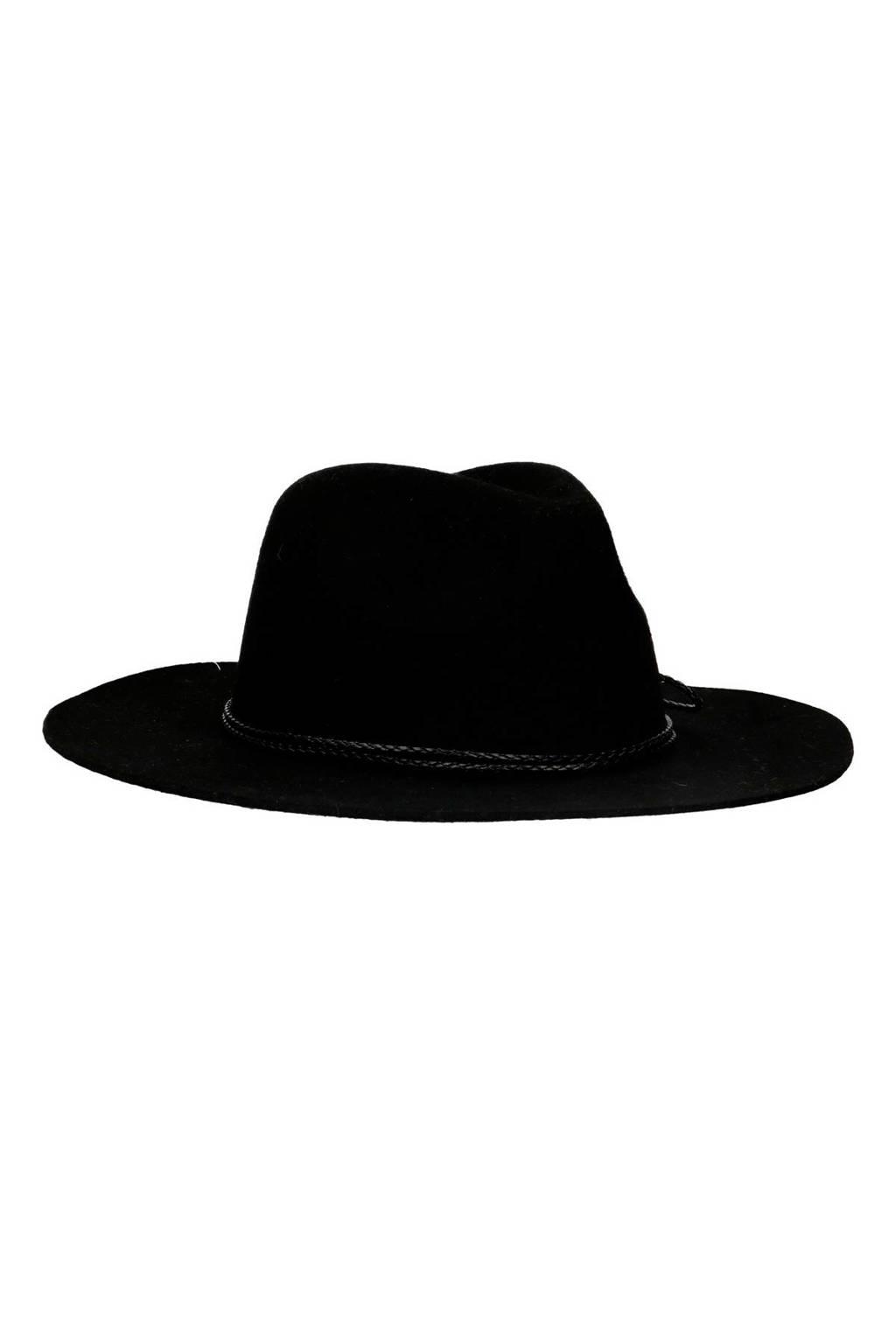Sacha wollen hoed zwart, Zwart