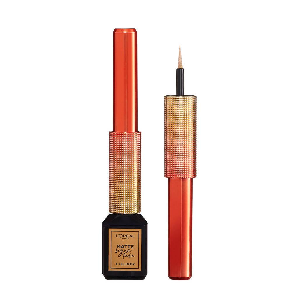 L'Oréal Paris  Limited Edition Matte Signature Eyeliner - 10 Gold Signature