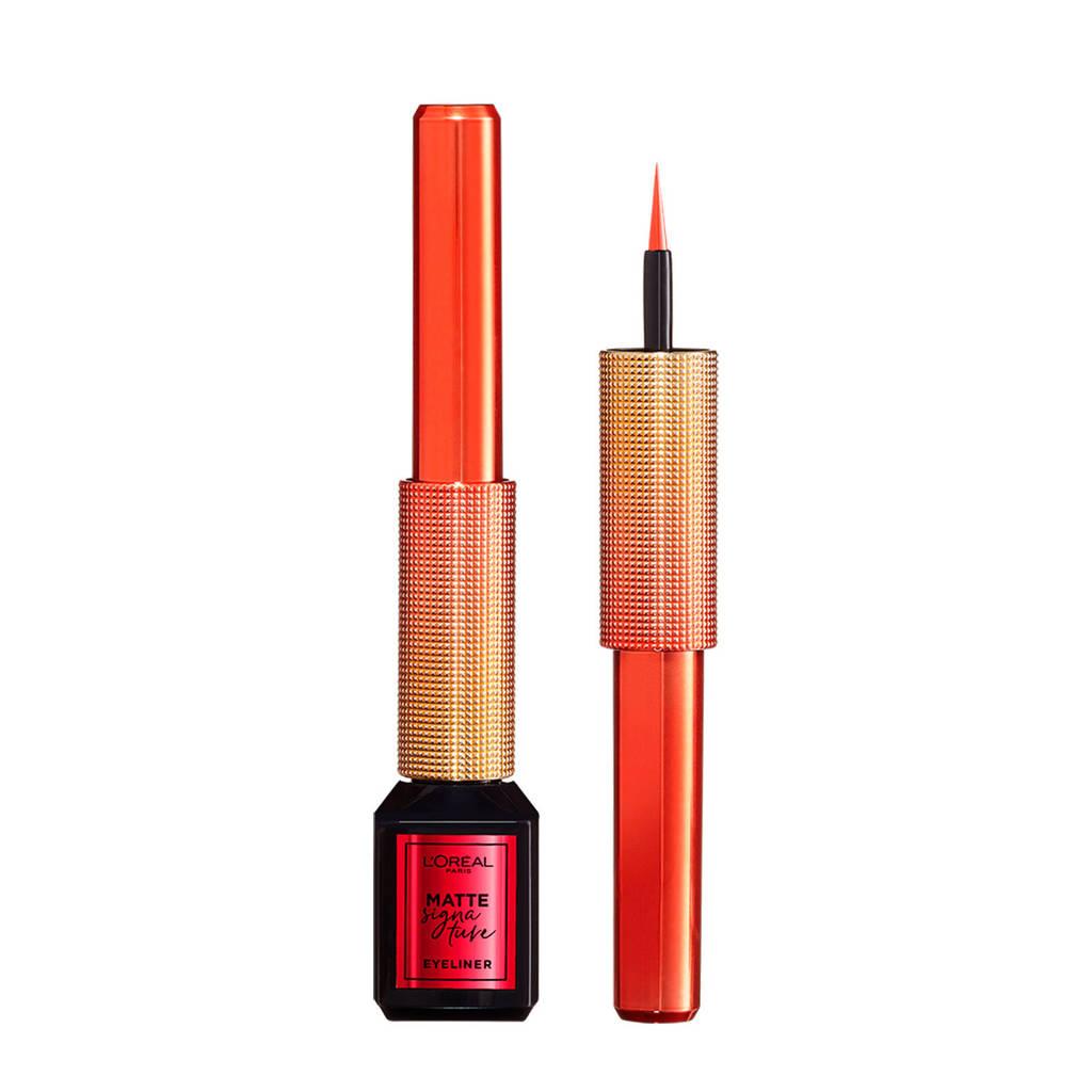 L'Oréal Paris  Limited Edition Matte Signature Eyeliner -  11 Red,  11 Red