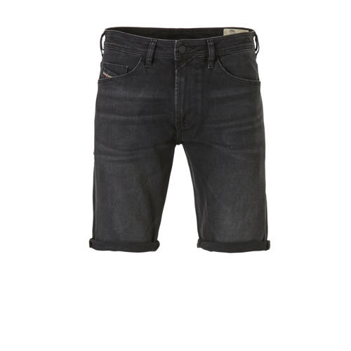 Diesel slim fit jeans short zwart