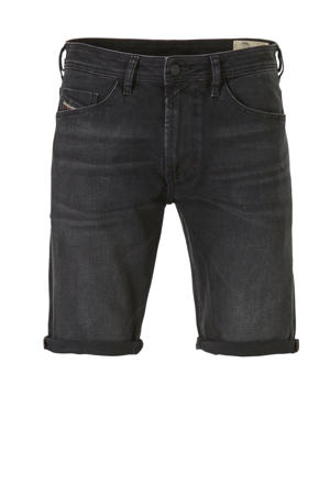 slim fit jeans short zwart