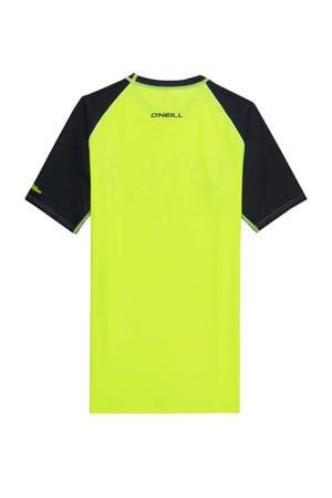 UV shirt Cali neon geel/donkerblauw