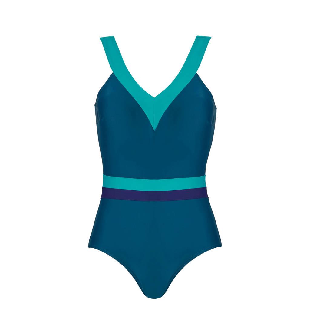 Tweka badpak groen/turquoise, Groen/turquoise