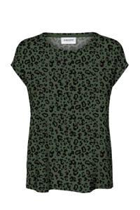 AWARE by VERO MODA T-shirt met panterprint groen, Groen