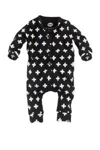 Z8 newborn boxpak Caiden met all over print zwart/wit, Zwart/wit