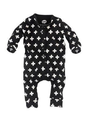 newborn boxpak Caiden met all over print zwart/wit
