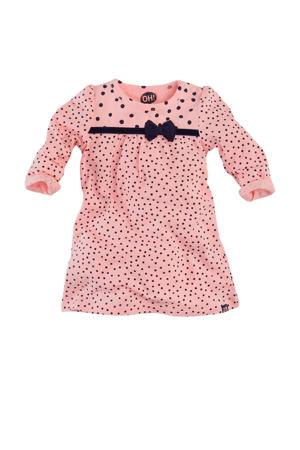 A-lijn jurk Nella met stippen roze/donkerblauw