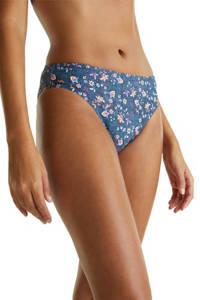 ESPRIT Women Beach gebloemd bikinibroekje blauwgrijs, Blauwgrijs