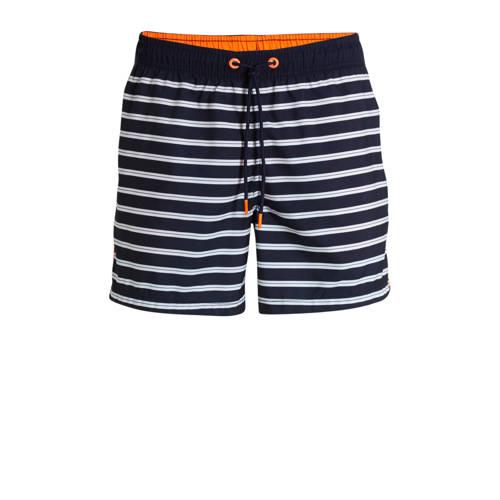 ESPRIT Men Bodywear gestreepte zwemshort marine/wi