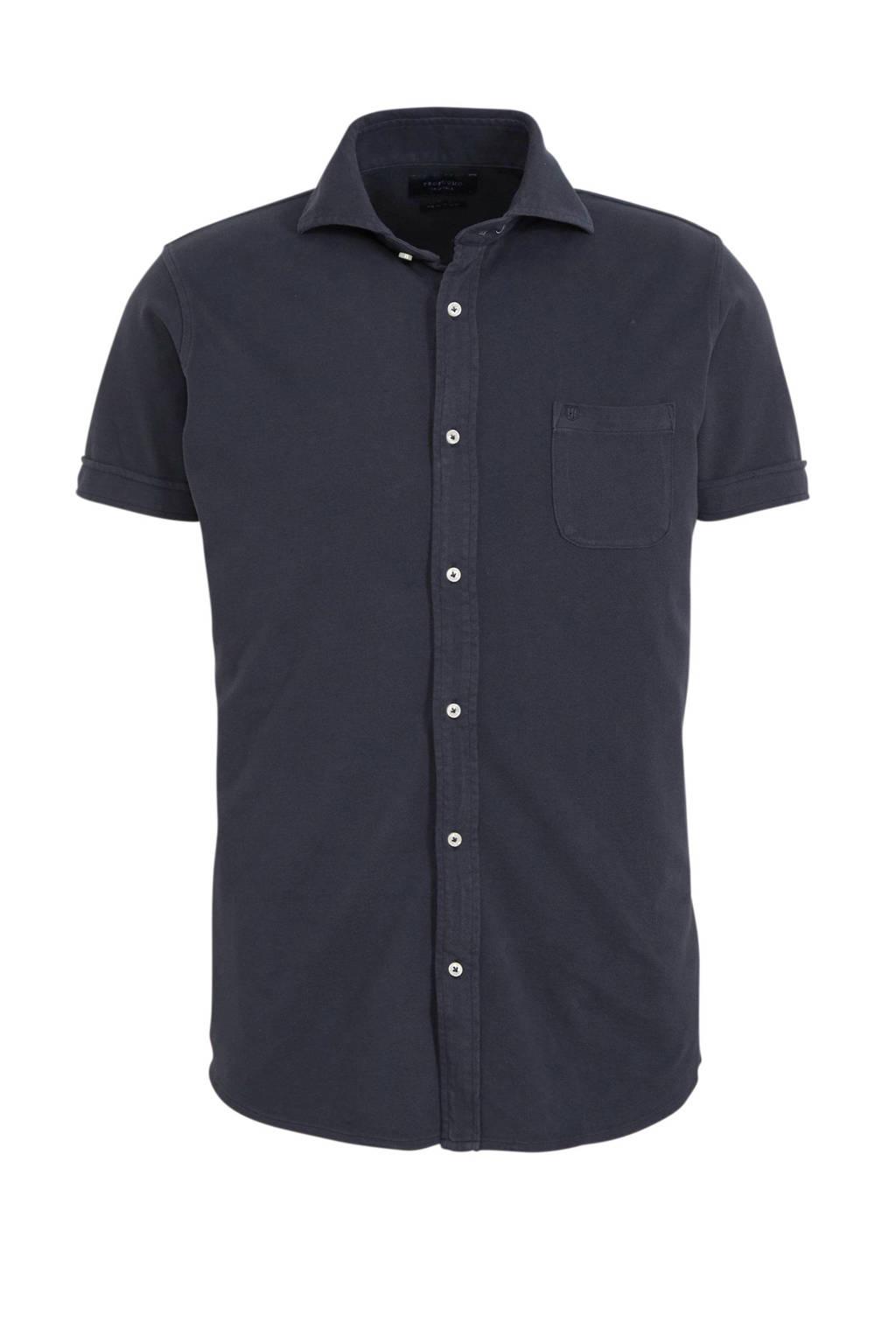 Profuomo slim fit overhemd marine, Marine