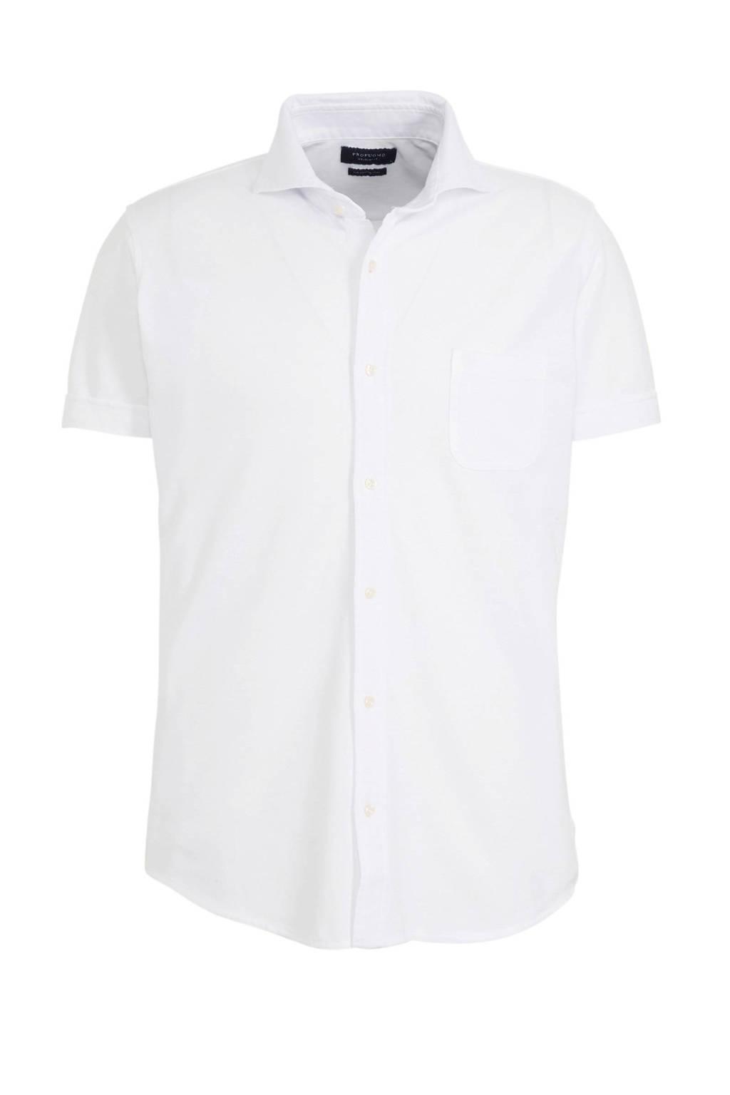 Profuomo slim fit overhemd wit, Wit