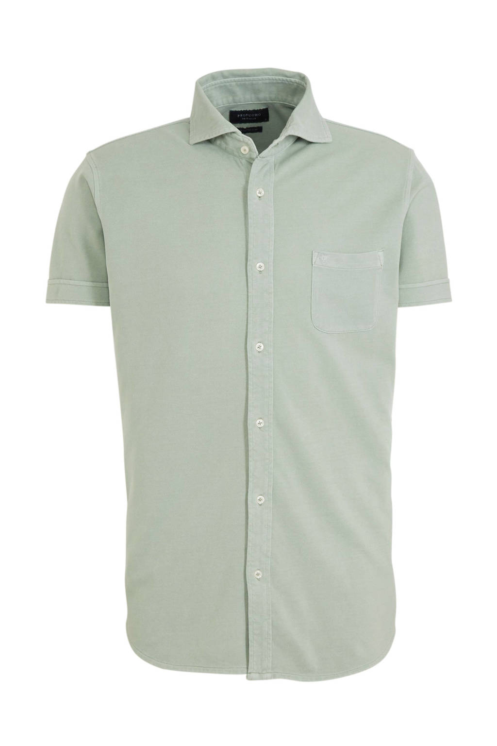 Profuomo slim fit overhemd lichtgroen, Lichtgroen