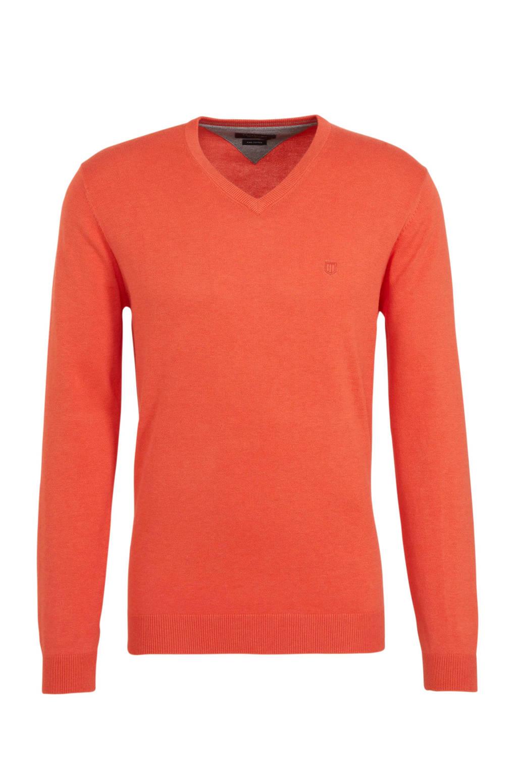 Profuomo fijngebreide trui oranje, Oranje