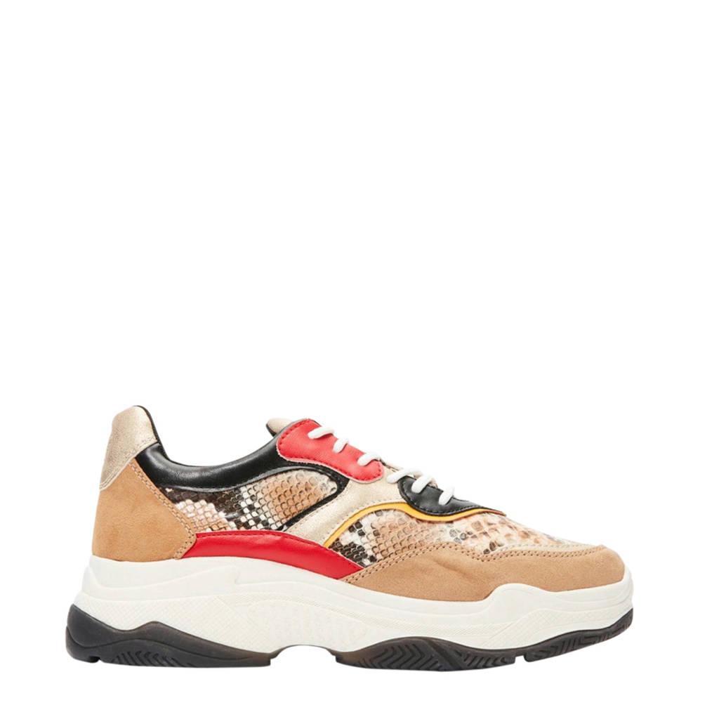 s.Oliver   chunky sneakers beige/slangenprint, Beige/multi