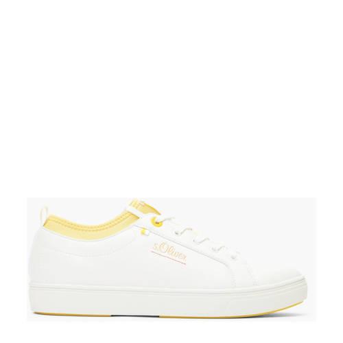 s.Oliver sneakers wit/geel