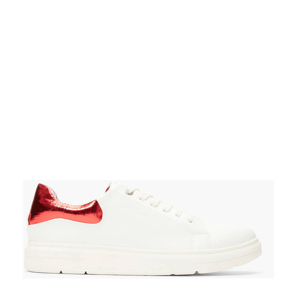 s.Oliver   sneakers wit/rood, Wit/rood