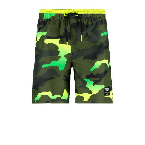 CoolCat Junior zwemshort met camouflage print groe