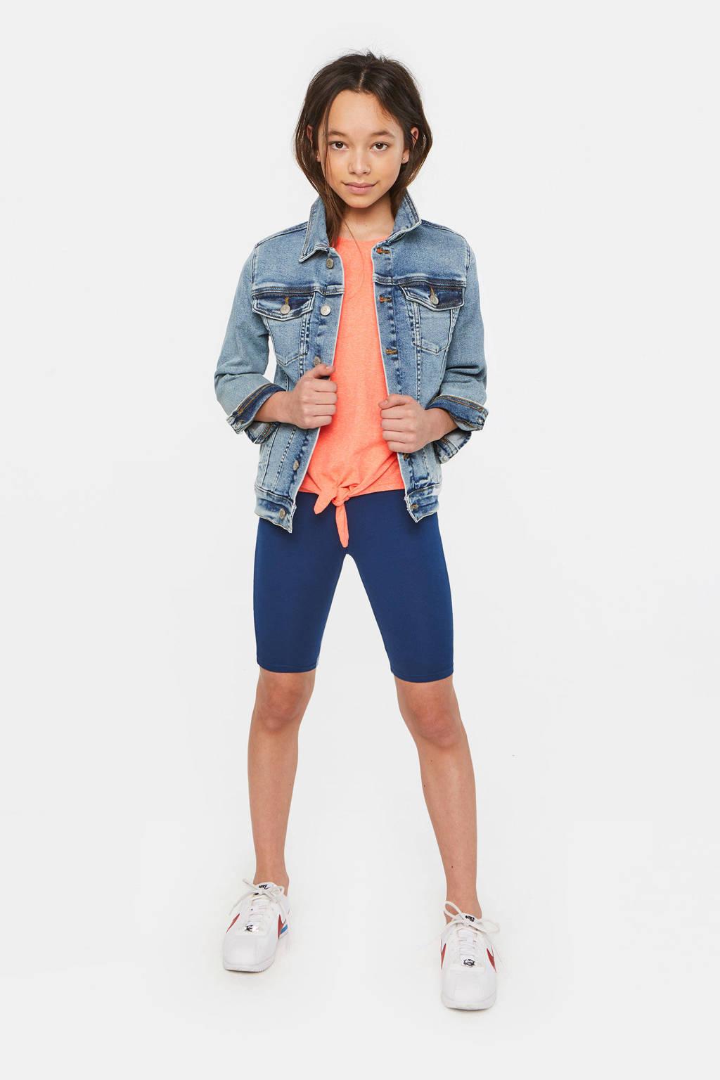WE Fashion slim fit short blauw, Blauw