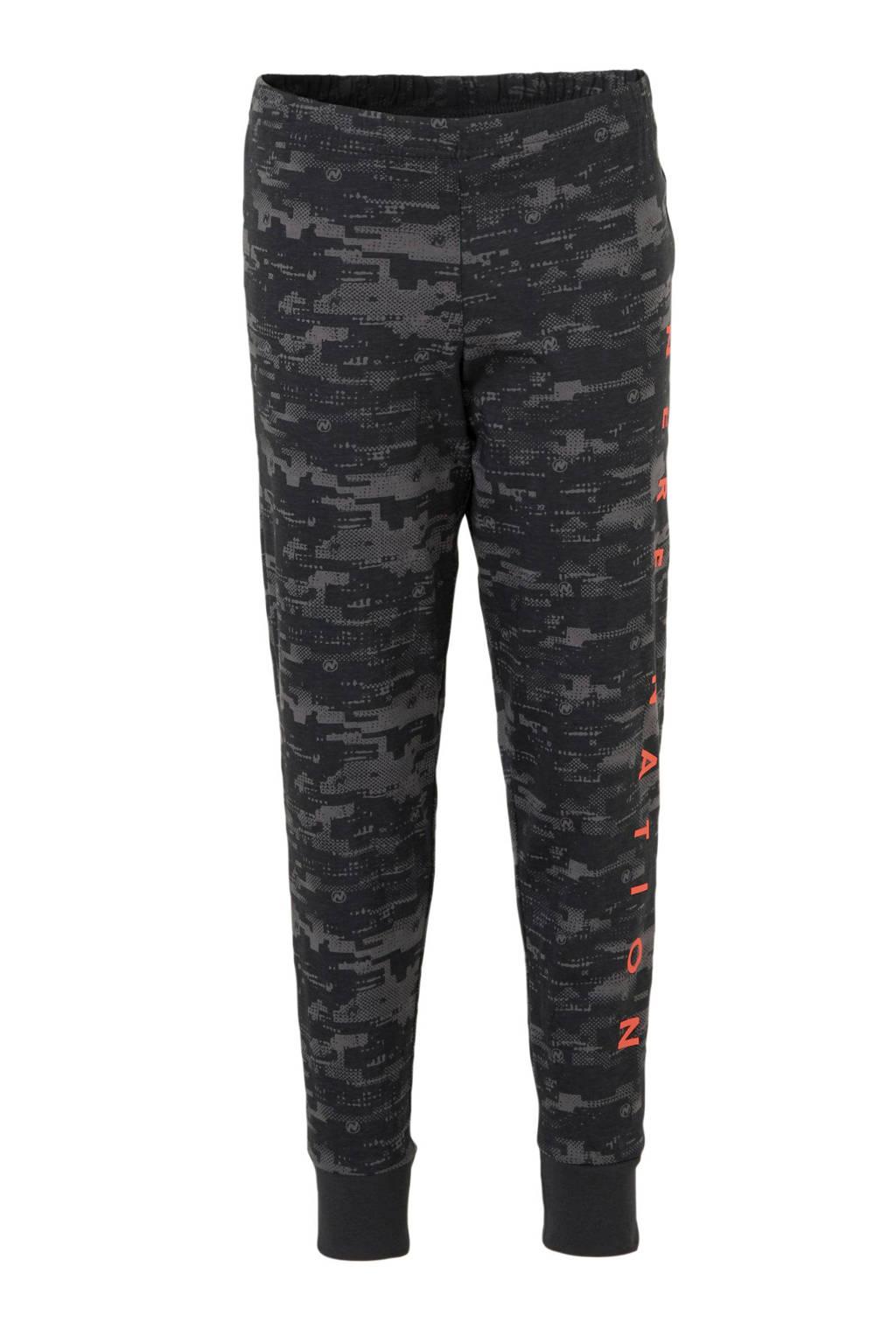C&A   pyjamabroek en longsleeve antraciet/grijs/oranje