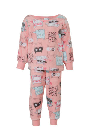 Palomino pyjamabroek en sweater roze all over print