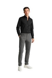 Mango Man slim fit overhemd zwart, Zwart