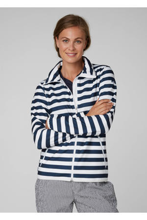 fleece jack Naiad blauw/wit
