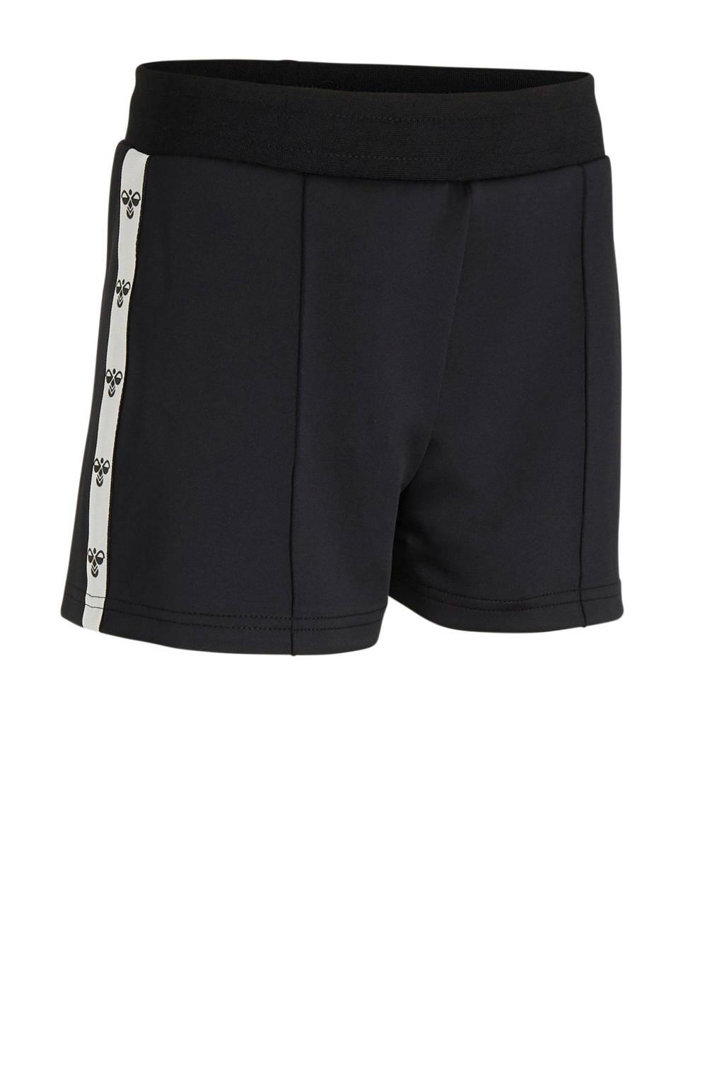 hummel sportshort zwart, Zwart/wit