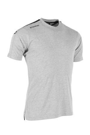 Senior  voetbalshirt grijs melange