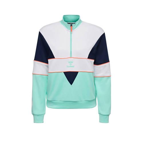 hummel sportsweater mintgroen/wit