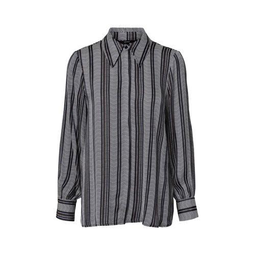 VERO MODA blouse met all over print donkerblauw/wi