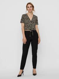 VERO MODA blouse met panterprint bruin/zwart, Bruin/zwart