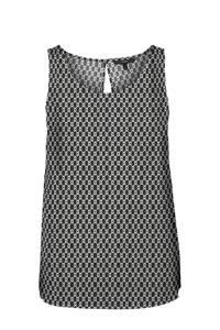 VERO MODA top met grafische print zwart/wit, Zwart/wit