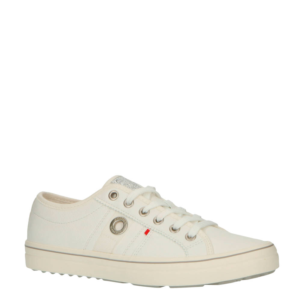 s.Oliver   sneakers wit, Wit/zilver