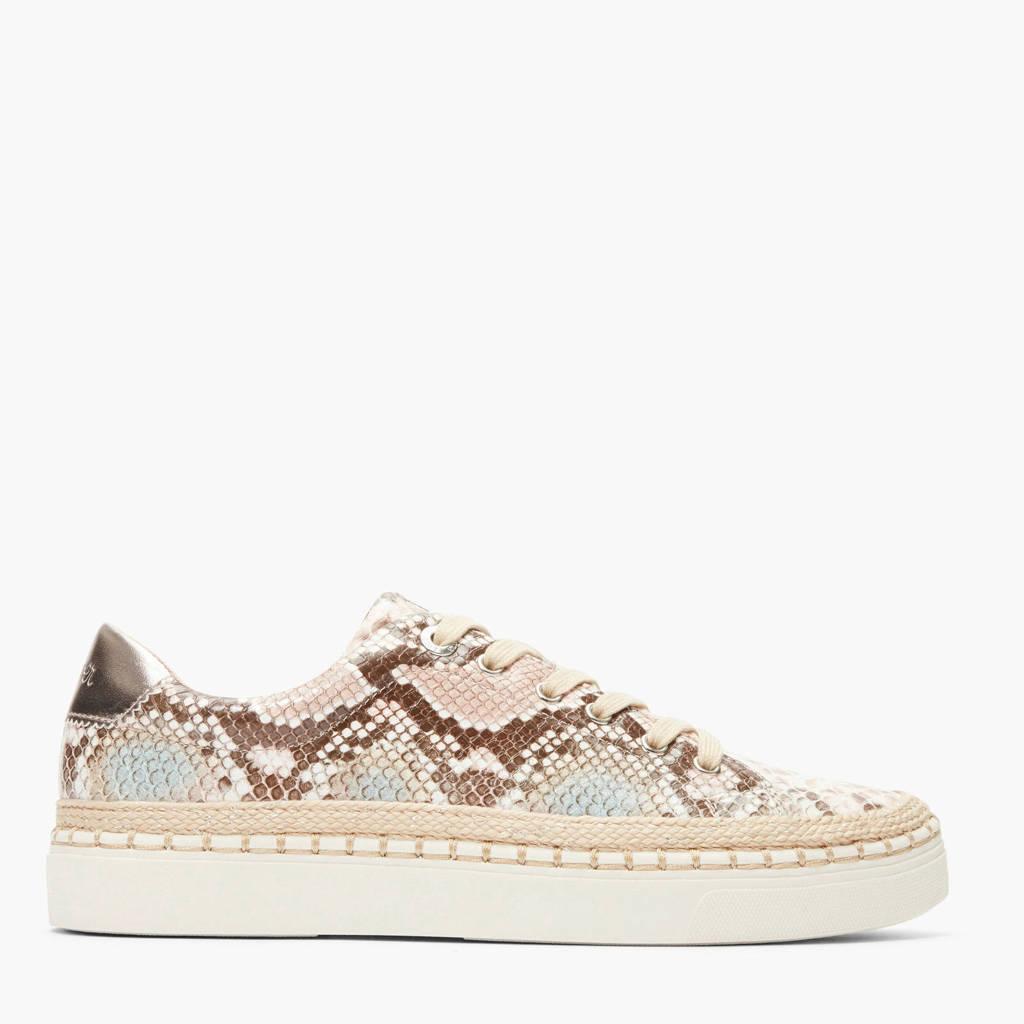 s.Oliver   sneakers slangenprint, Beige/bruin