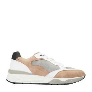 sneakers wit/lichtbruin