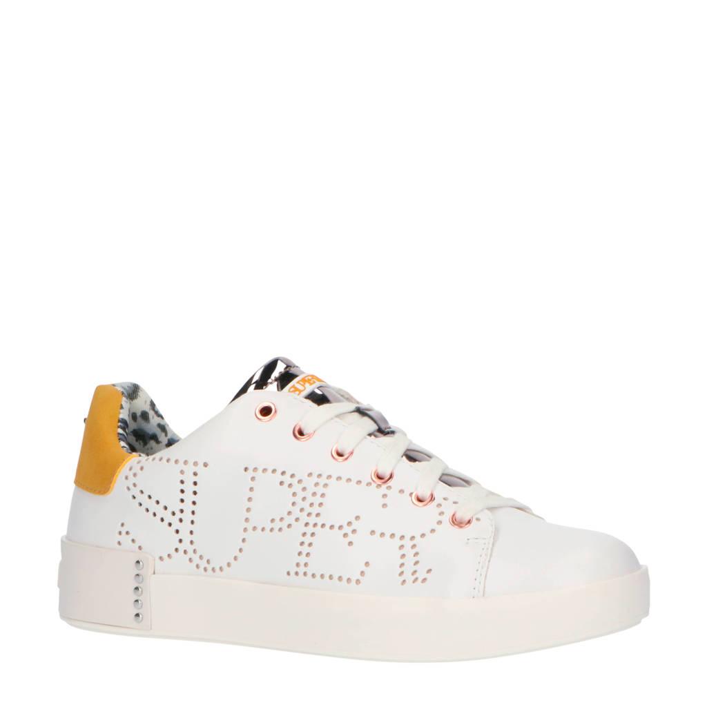 Supertrash Lewi LSR W  sneakers wit/okergeel, Wit/okergeel