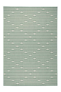 whkmp's own binnen- en buitenvloerkleed  (230x160 cm), Spa blauw/wol